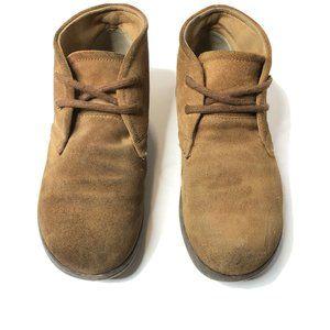 Born Nigel Mario Chukka Boots Boys Size 4 Brown